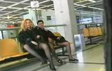 Lesbians masturbating in public