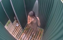 Spy cam in public shower