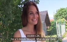 Czech angel rides cock for cash