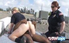 White ass MILF is horny and ready to ride a huge black dick in public!