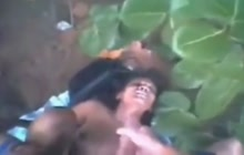 Indian amateur fucked and facialed outdoors