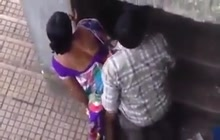 Indian lovers caught fucking in public