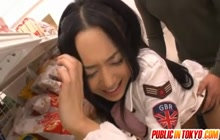 Sora Aoi doggy in the store