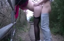 Amateur Chinese gets creampied in broad daylight