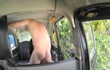 Big boobed masseuse fucked in public cab