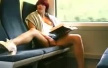 Masturbation in a train