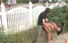 Slave humiliated in public