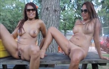 Hot Pinay girls naked in public